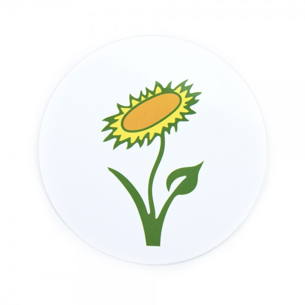 Aufkleber Veganblume